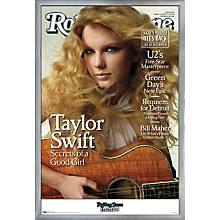 Rolling Stone - Taylor Swift Poster Framed Silver