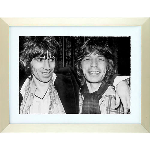 Mirrorpix Rolling Stones Glimmer Twins Black and White Framed Print