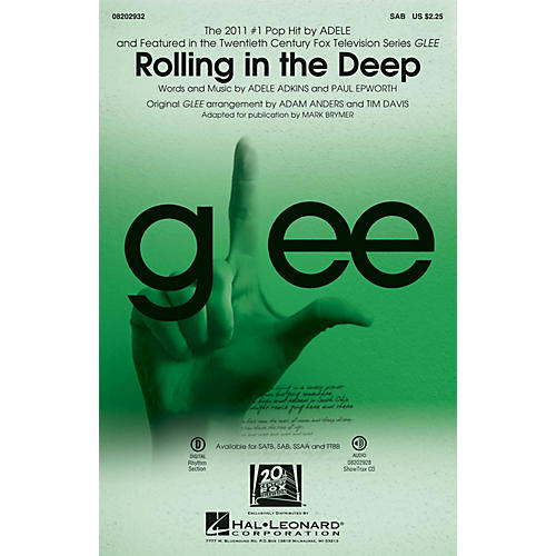 Hal Leonard Rolling in the Deep SAB by Adele arranged by Adam Anders