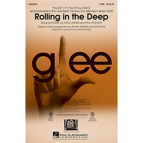 Hal Leonard Rolling in the Deep TTBB by Adele arranged by Adam Anders