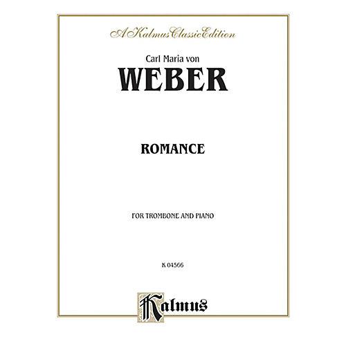Alfred Romance for Trombone By Carl Maria von Weber Book