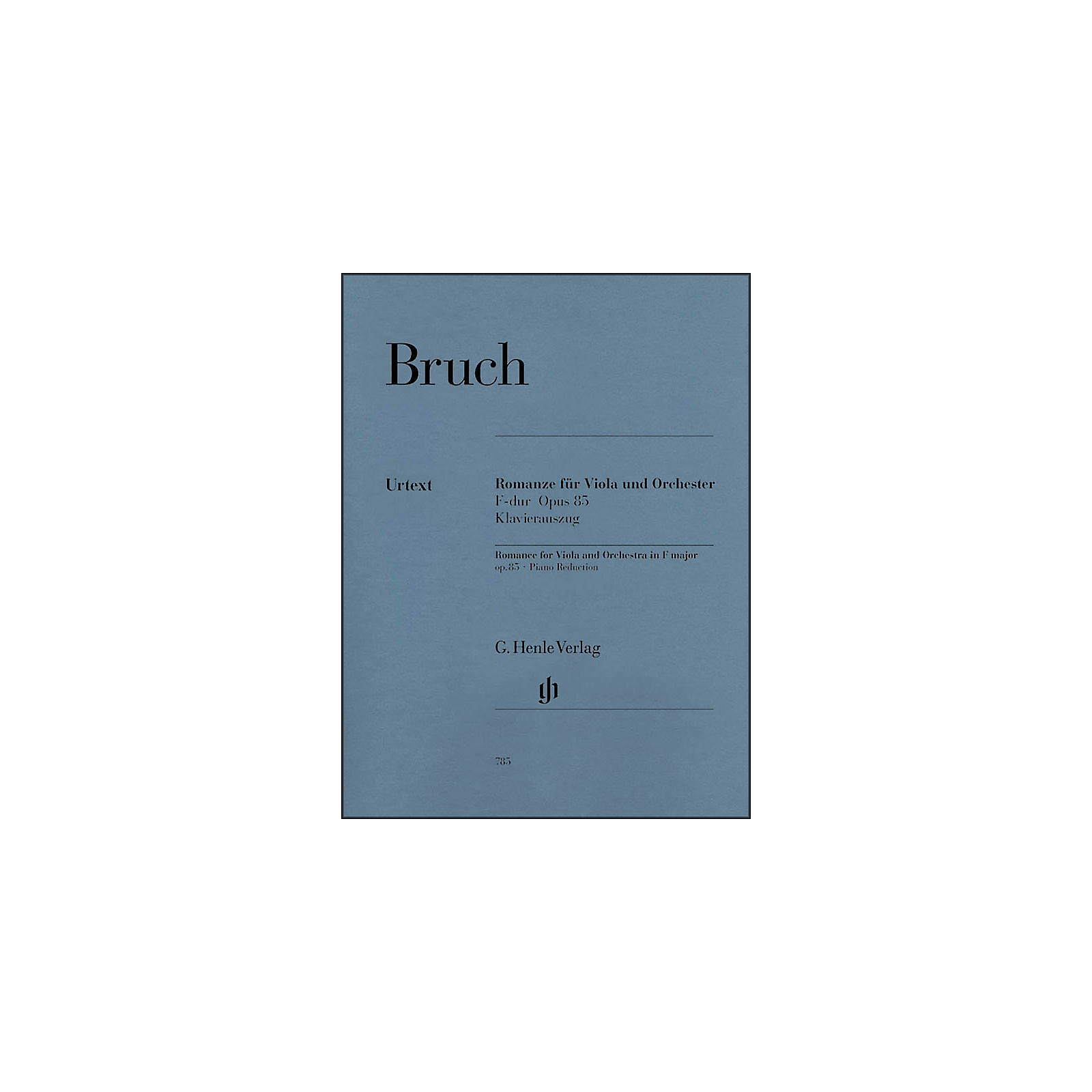 G. Henle Verlag Romance for Viola and Orchestra in F Major Op. 85 By Bruch