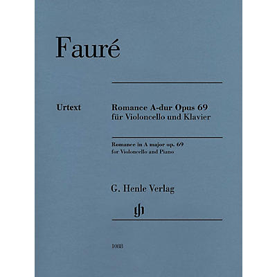 G. Henle Verlag Romance in A Major, Op. 69 Cello and Piano by Fauré