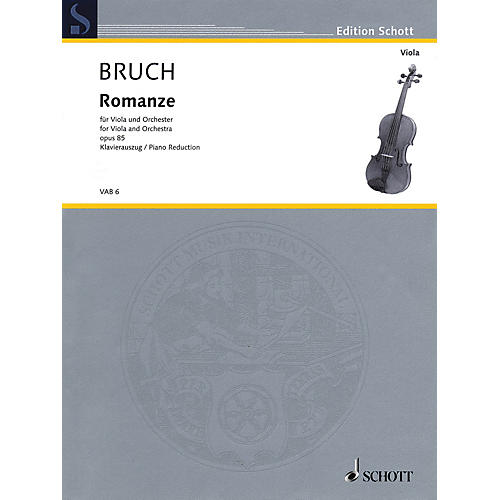 Schott Romance in F Major, Op. 85 (Viola and Piano) Schott Series Composed by Max Bruch