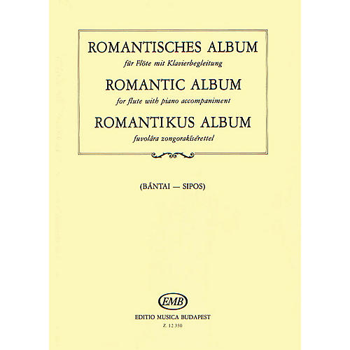 Editio Musica Budapest Romantic Album for Flute and Piano EMB Series