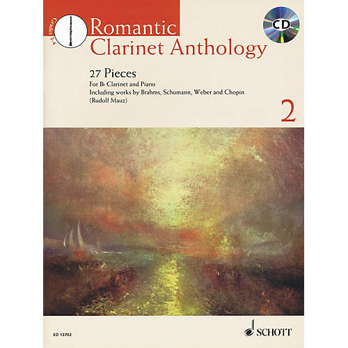 Schott Romantic Clarinet Anthology Volume 2 (27 Pieces) Woodwind Solo Series BK/CD