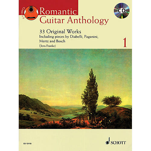 Schott Romantic Guitar Anthology - Volume 1 Guitar Series Softcover with CD