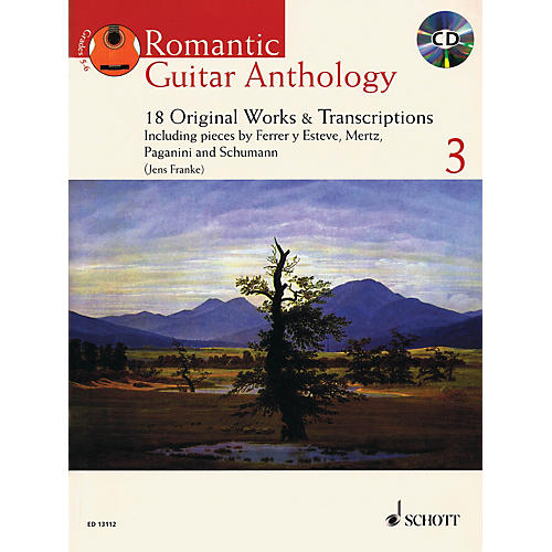 Schott Romantic Guitar Anthology - Volume 3 (18 Original Works & Transcriptions) Guitar Series Softcover with CD