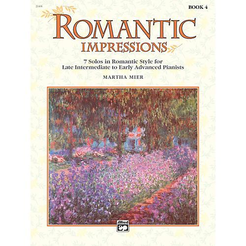 Alfred Romantic Impressions Book 4 Piano
