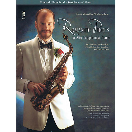 Music Minus One Romantic Pieces for Alto Saxophone & Piano Music Minus One Series Book with CD  by Various