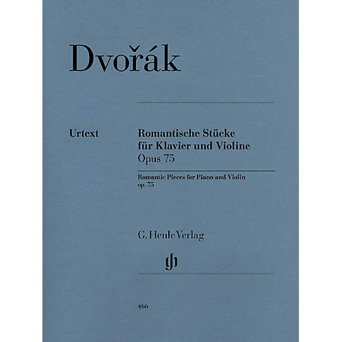 G. Henle Verlag Romantic Pieces for Violin and Piano Op. 75 Henle Music Folios Series Softcover