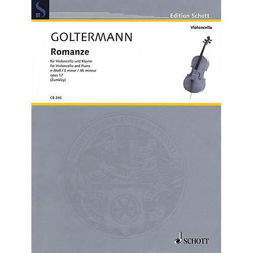 Schott Romanze in E minor, Op. 17 (for Cello and Piano) String Series Softcover
