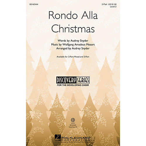 Hal Leonard Rondo Alla Christmas (Discovery Level 2) 2-Part arranged by Audrey Snyder
