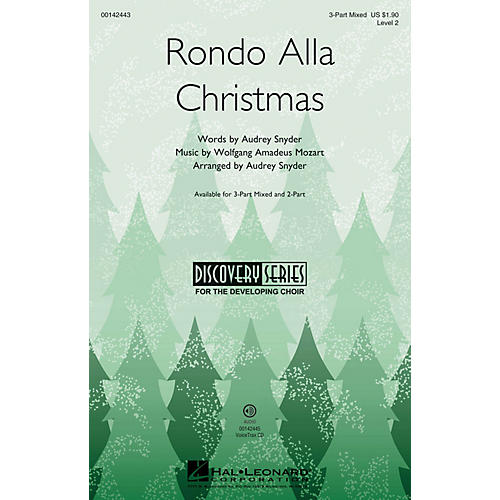 Hal Leonard Rondo Alla Christmas (Discovery Level 2) 3-Part Mixed arranged by Audrey Snyder