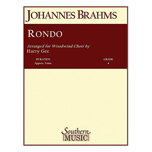Southern Rondo (Woodwind Choir) Southern Music Series Arranged by Harry Gee