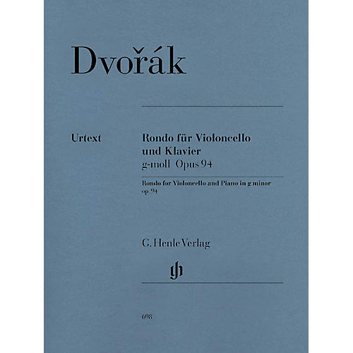 G. Henle Verlag Rondo for Violoncello and Piano G minor Op. 94 Henle Music Folios Series Softcover
