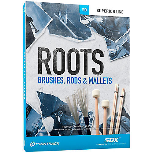 Toontrack Roots Brushes, Rods & Mallets SDX Expansion Pack
