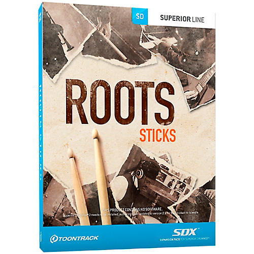 Toontrack Roots Sticks SDX Expansion Pack
