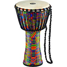 Rope Tuned Djembe with Synthetic Shell and Goat Skin Head 10 in. Kenyan Quilt