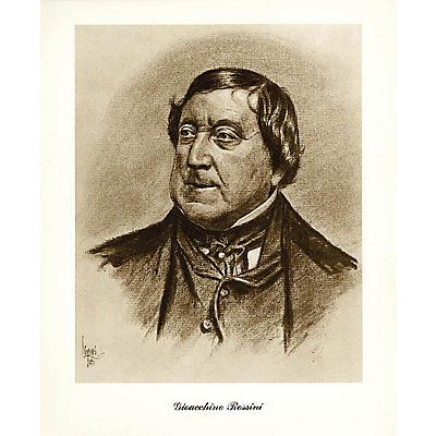 Music Sales Rossini (Lupas Large Portrait Poster) Music Sales America Series