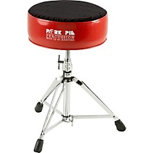 Round Drum Throne Red with Black Swirl Top