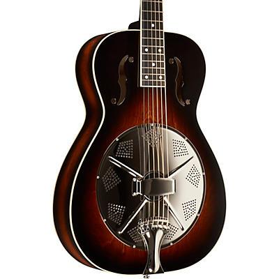 Beard Guitars Round Neck Biscuit Bridge Left-Handed Acoustic-Electric Resonator Guitar
