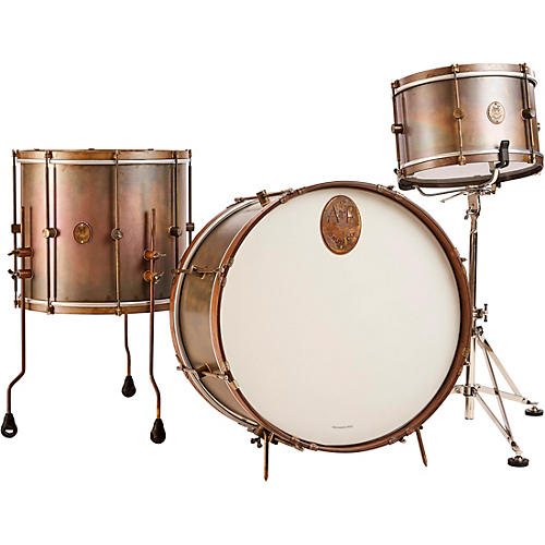 A&F Drum Co Royal Brass 3-Piece Shell Pack