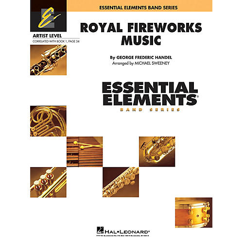 Hal Leonard Royal Fireworks Music Concert Band Level 1 Arranged by Michael Sweeney
