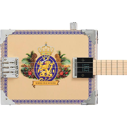 Lace Royalty Acoustic-Electric Cigar Box Guitar 3 string