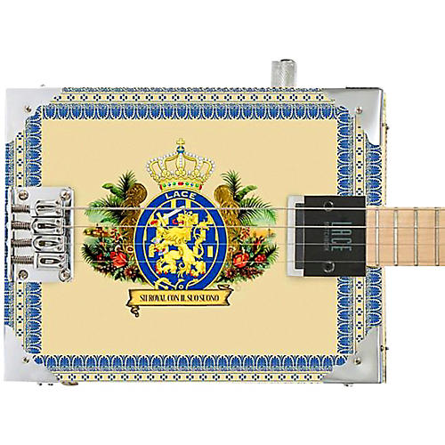 Lace Royalty Acoustic-Electric Cigar Box Guitar