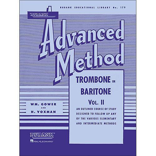 Hal Leonard Rubank Advanced Method for Trombone Or Baritone Volume 2