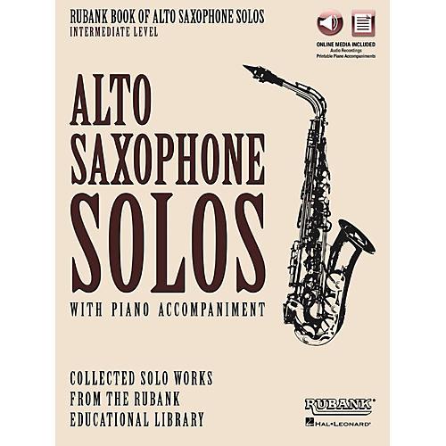 Hal Leonard Rubank Book of Alto Sax Solos - Intermediate Level Book/Audio Online