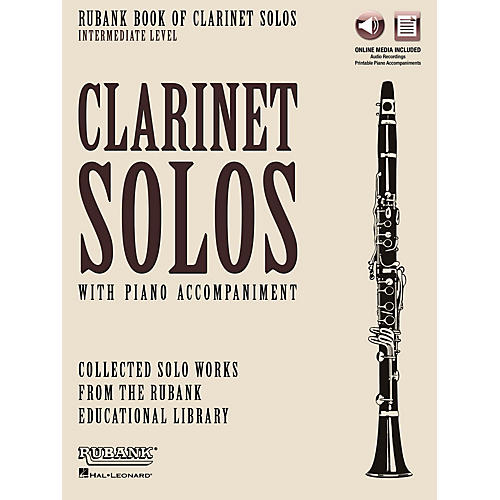Rubank Publications Rubank Book of Clarinet Solos - Intermediate Level Rubank Solo Collection Series Softcover Media Online