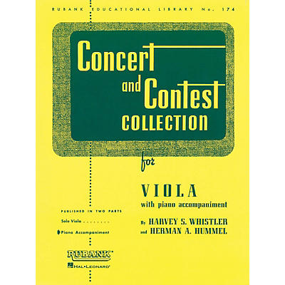 Hal Leonard Rubank Concert And Contest Collection - Viola Piano Accompaniment Only