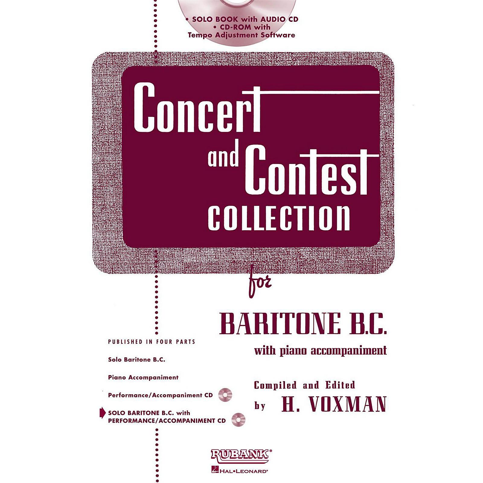 Hal Leonard Rubank Concert And Contest Collection Baritone B.C. Book/Online Audio