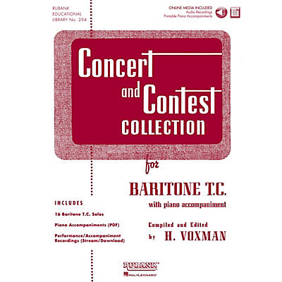 Hal Leonard Rubank Concert And Contest Collection Baritone T.C. Book/CD