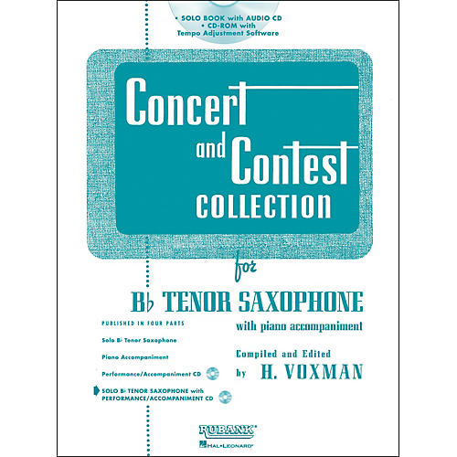 Hal Leonard Rubank Concert And Contest Collection Tenor Sax Book/Online Audio