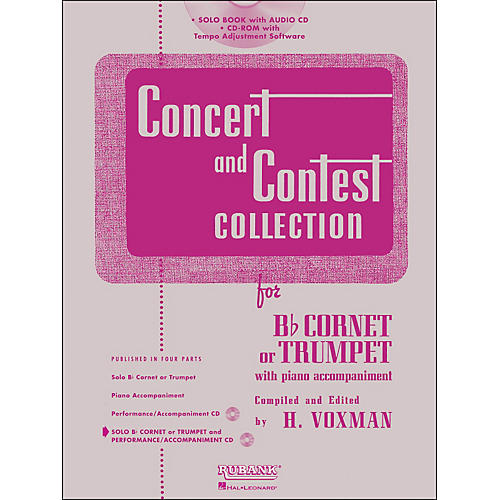 Hal Leonard Rubank Concert And Contest Collection Trumpet/Cornet Book/Online Audio