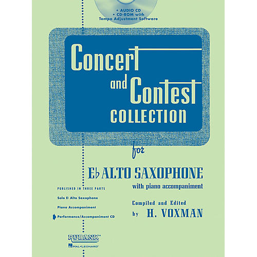 Hal Leonard Rubank Concert And Contest For Alto Sax - Accompaniment CD