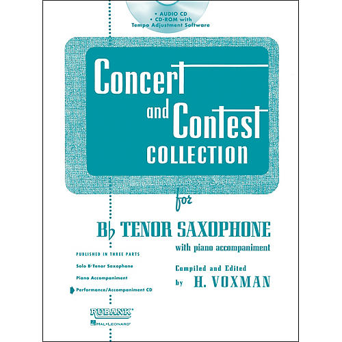 Hal Leonard Rubank Concert And Contest For Tenor Sax - Accompaniment CD
