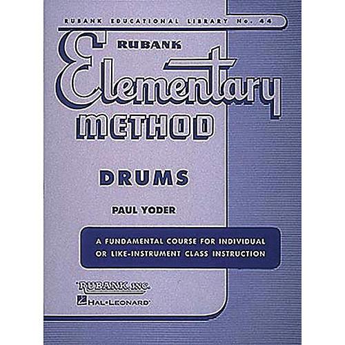 Hal Leonard Rubank Elementary Method - Drums Book