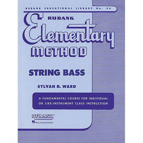 Hal Leonard Rubank Elementary Method - String Bass