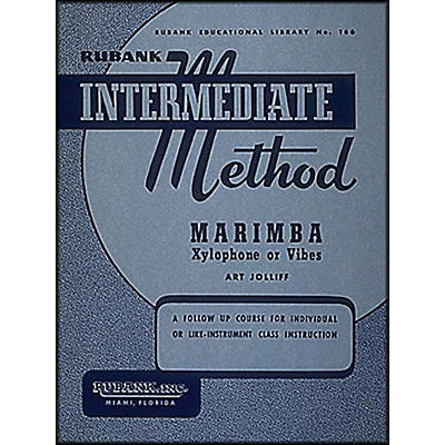 Hal Leonard Rubank Intermediate Method - Marimba/Xylo- Phone Or Vibes