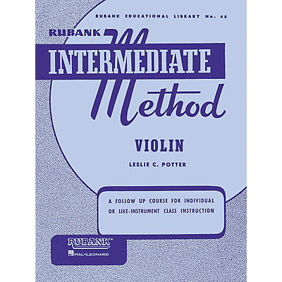 Hal Leonard Rubank Intermediate Method - Violin