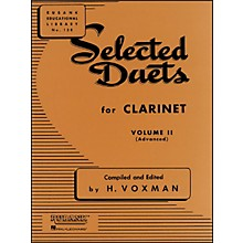 Hal Leonard Rubank Selected Duets Clarinet Vol 2 Advanced