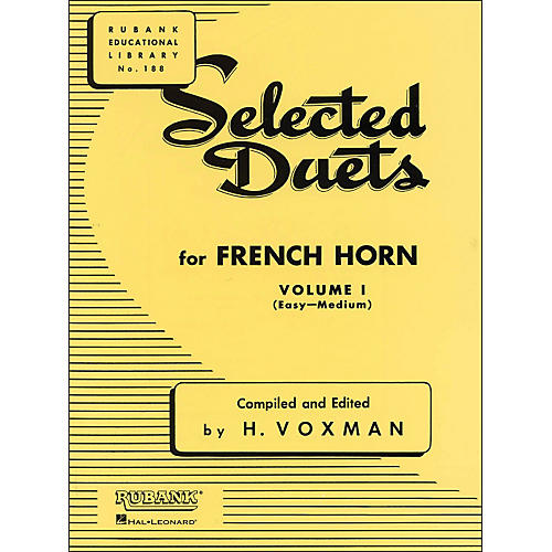 Hal Leonard Rubank Selected Duets French Horn Vol 1 Easy/Medium