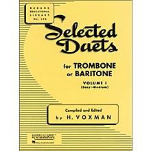 Hal Leonard Rubank Selected Duets Trombone Or Baritone Vol 1 Easy/Medium