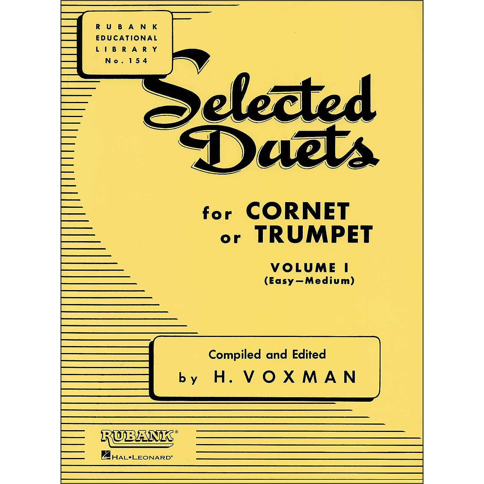 Hal Leonard Rubank Selected Duets for Cornet Or Trumpet Vol 1 Easy/Medium