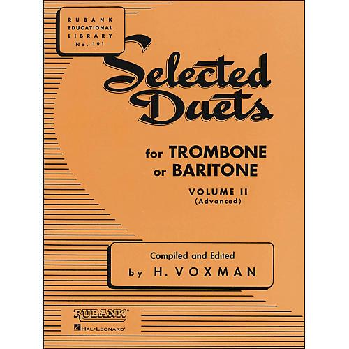 Hal Leonard Rubank Selected Duets for Trombone Or Baritone Vol 2