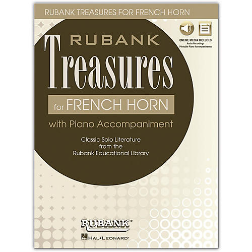 Rubank Publications Rubank Treasures for French Horn Book/Online Audio